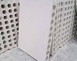 Bloco de concreto gesso